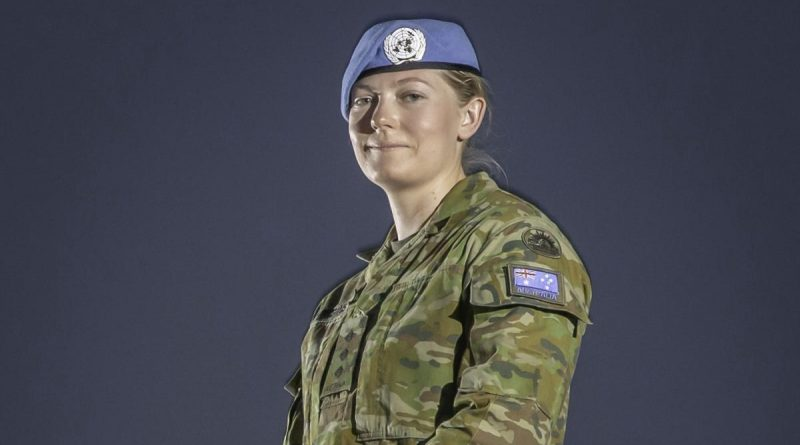 Captain Katherine Higgins prepares for deployment as a UN Peacekeeper on Operation Paladin. Story by Lieutenant Commander Andrew Ragless. Photo by Sergeant Ben Dempster.