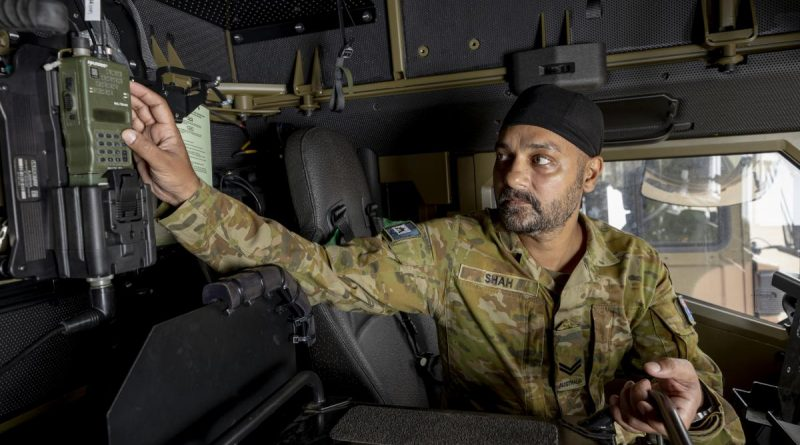 Corporal Jaspreet Shah was awarded a Gold Commendation for his work on an interim communications solution for the Land 121 vehicle fleet at Lavarack Barracks. Story by Captain Diana Jennings. Photo by Corporal Brodie Cross.