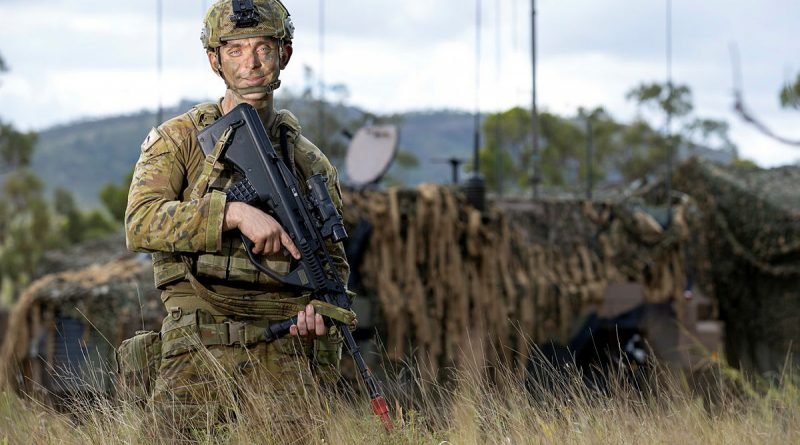 Australian Army Signaller James Fern from the 3rd Combat Signal Regiment is deployed to Townsville Field Training Area as a Battlespace Communication Systems Operator on Exercise Polygon Wood 2021. Story by Captain Diana Jennings. Photo by Corporal Brodie Cross.