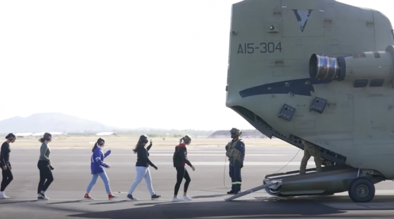 Defence Force Recruiting has given potential women candidates the opportunity to experience up close roles within 5th Aviation Regiment, at RAAF Base Townsville. Story by Corporal Veronica O'Hara and Venetia Reynolds. Photo - Screen grab.