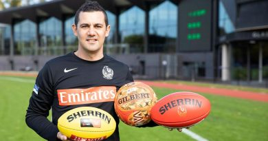 Physical training instructor Sergeant James Debono at the Collingwood Football Club headquarters at Olympic Park, Victoria. Story by Private Jacob Joseph. Photo by Leading Seaman Bonny Gassner.