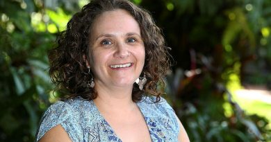 Joanna Minuzzo, chairperson and co-founder of the Cairns Defence Community Support Group. Story and photo by Warrant Officer Class 2 Max Bree.