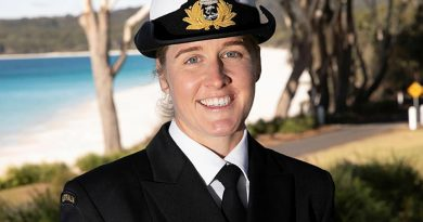 Nursing officer and New Entry Officers Course 64 graduate Lieutenant Laura McRae at HMAS Creswell, Jervis Bay, New South Wales. Story by Lieutenant Sarah Rohweder. Photo by Petty Officer Justin Brown.