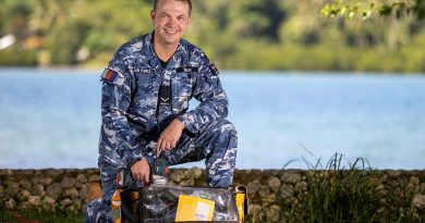 Leading Aircraftman Joseph Swain is on deployment alongside Australian Army personnel in Vanuatu installing off-grid solar panel systems to power radios in remote locations. Story and photo by Corporal Olivia Cameron.