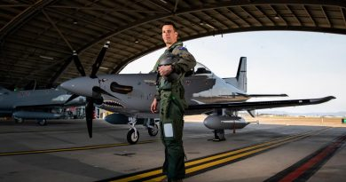 Australian Army pilot Captain David Fileman, of No. 4 Squadron, with a PC-21 aircraft during TS21 at RAAF Base Townsville. Story by Flight Lieutenant Chloe Stevenson. Photo by Leading Aircraftwoman Emma Schwenke.