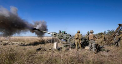 Royal Australian Artillery and the United States Marine Corps fire an Australian M777 Howitzer at Shoalwater Bay Training Area during TS21. Story by Private Jacob Joseph. Photo by Trooper Jarrod McAneney.