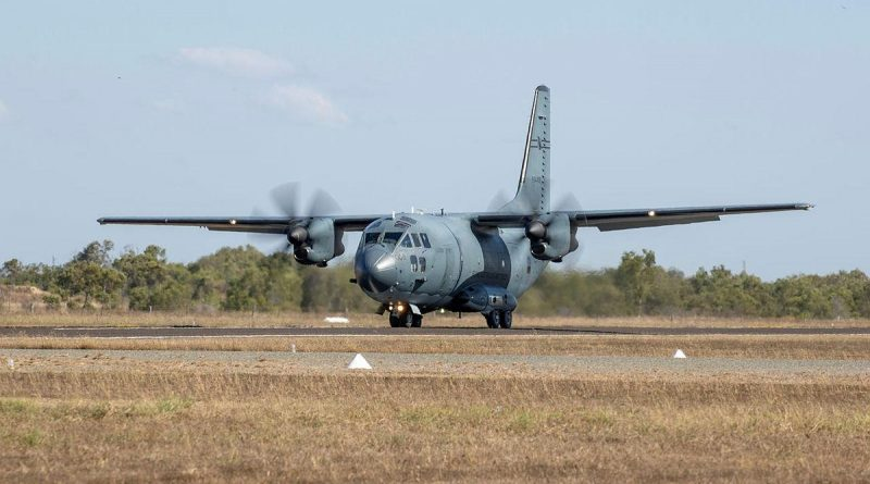 An Air Force C-27J Spartan aircraft during Exercise Talisman Sabre 2021. Photo by Leading Aircraftwoman Jacqueline Forrester.