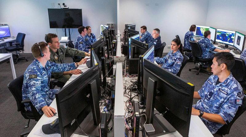 Air Force members of Distributed Ground Station – Australia at work in the lead-up to last year's virtual Exercise Coalition Virtual Flag. Artificial intelligence is set to help intelligence analysts. Story by David Kilmartin. Photo by Leading Aircraftwoman Jacqueline Forrester.
