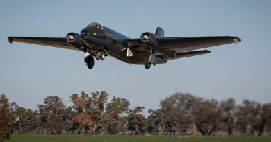 The No. 100 Squadron English Electric Canberra bomber TT heritage aircraft takes off on its maiden flight following restoration at the Temora Aviation Museum. Story by Flight Lieutenant Aaron CollierFlight Lieutenant Aaron Collier.