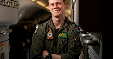 Flying Officer Michael Clifton, a maritime patrol and response officer from No. 11 Squadron, on board a P-8A Poseidon aircraft at RAAF Base Townsville during Exercise Talisman Sabre 2021. Story by Flight Lieutenant Chloe Stevenson. Photo by Leading Aircraftwoman Emma Schwenke,