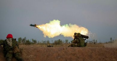 A Japan Ground Self-Defence Force soldier fires a Type 01 LMAT anti-tank missile during Exercise Southern Jackaroo, held at the Mount Bundey Training Area. Story and photo by Private Jacob Joseph.