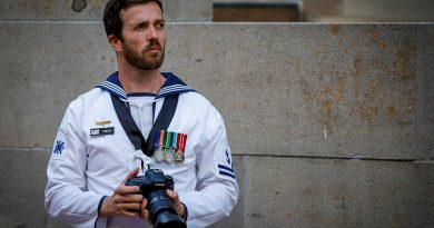 Leading Seaman David Cox captures photographs at the Australian War Memorial in Canberra as part of his Initial Employment Training Course. Story by Petty Officer Helen Frank. Photo by Trooper Jonathan Goedhart.