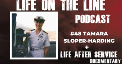 Two interviews with Navy veteran Tamara Sloper-Harding