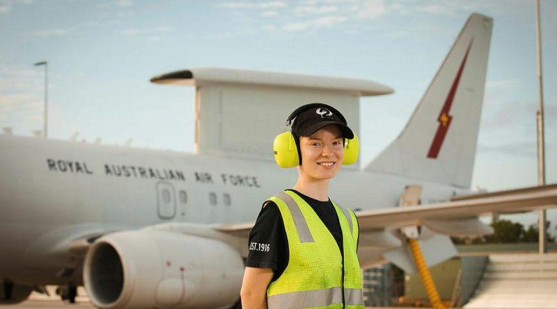 Aircraftwoman Natasha Bryan prepares an E-7A Wedgetail for a flight during Exercise Rogue Ambush at RAAF Base Darwin. Story by Flying Officer Bronwyn Marchant. Photo by Leading Aircraftman Adam Abela.