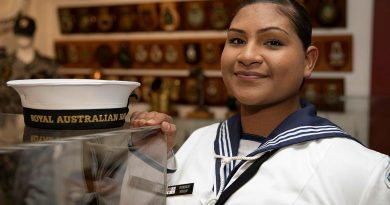 Recruit Shyndalia Woosup at the Cairns RSL after her graduation parade in Cairns, Queensland. Story by Sub Lieutenant Nancy Cotton. Photo by Petty Officer Bradley Darvill.