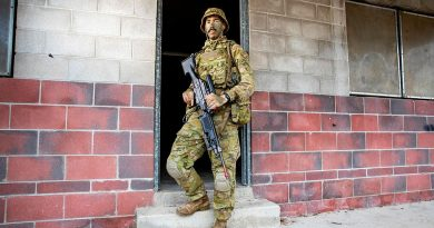 Private Will Yet Foy at the Townsville Field Training Area in Queensland during Exercise Talisman Sabre. Story by Flight Lieutenant Chloe Stevenson. Photo by Leading Aircraftwoman Emma Schwenke.