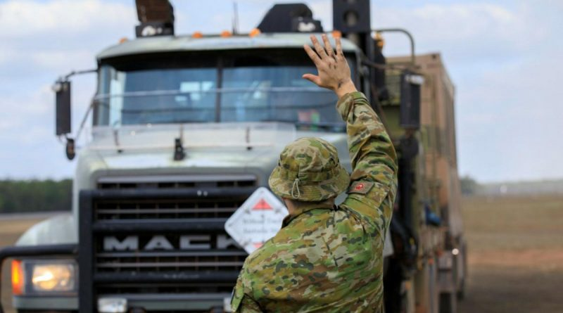 Air Force personnel from No. 452 Squadron arrive at RAAF Base Scherger from RAAF Base Amberley with a transportable air operations tower during Exercise Talisman Sabre 2021. Story by Flight Lieutenant Nick O'Connor. Photo by Corporal Brett Sherriff.