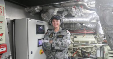 Able Seaman Briana Letta in the engine room of Australian Defence Vessel Cape Inscription while deployed on Operation Resolute. Story by Lieutenant Mollie Burns.