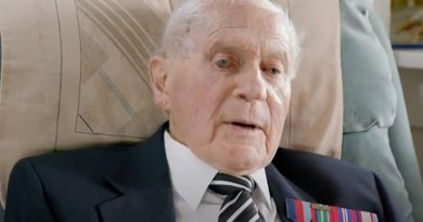 Dr Victor Leonard in later life during a television interview. Story by Tom Lewis.
