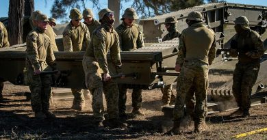 Soldiers from the 2nd Combat Engineer Regiment disassemble a medium girder bridge at Gayndah, Queensland. Story by Captain Taylor Lynch. Photo by Private Jacob Hilton.