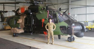 Army pilot Captain Charles Ford with an MRH90 Taipan in 2014. Story by Wing Commander Jaimie Abbott.