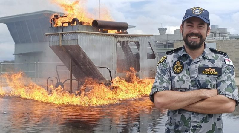 Chief Petty Officer Damien Richards, pictured, and Lieutenant Commander Wesley North are finalists in their category in the Engineers Australia Engineer of the Year awards. Story by Dallas McMaugh.