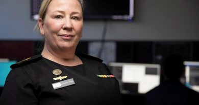 Chief Petty Officer Kathleen Price is the Staff Officer Cyber Operations for the Navy's Information Warfare Branch in Canberra. Story by Acting Sub Lieutenant Jack Meadows. Photo by Petty Officer Bradley Darvill.