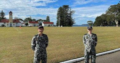 Navy Gap Year trainees Midshipman Ryan Rafferty and Midshipman Rebecca Wright at the Royal Australian Naval College HMAS Creswell in Jervis Bay, NSW. Story by Lieutenant Amy Johnson.
