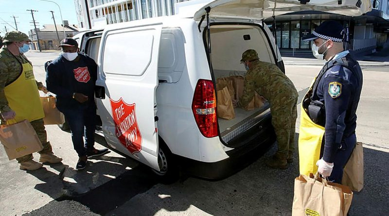ADF personnel working alongside NSW Police and community volunteers in Sydney's west. Story by Lieutenant Commander John Thompson.