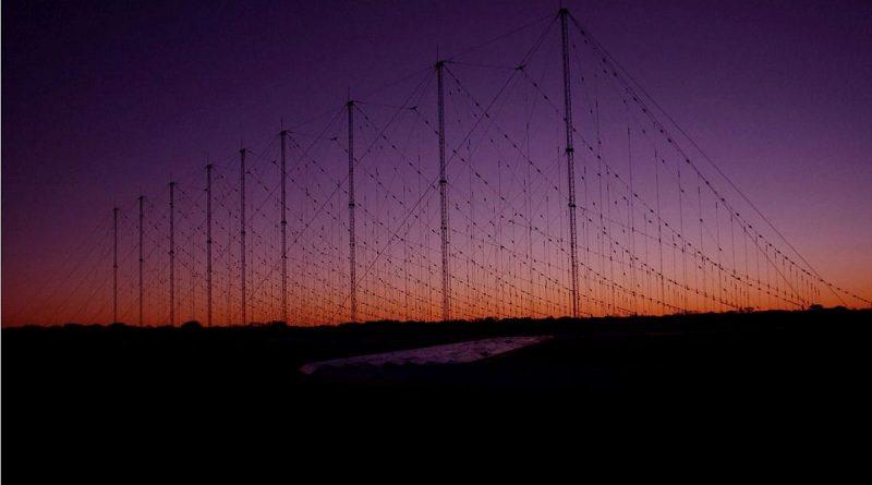 A Jindalee operational radar network (JORN) transmitter at Harts Range, Alice Springs.