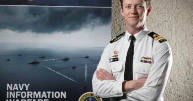 Lieutenant Commander Benjamin Piggott is the Navy Information Warfare Branch's Deputy Director- Space based in Canberra. Story by Acting Sub Lieutenant Jack Meadows. Photo by Petty Officer Bradley Darvill.