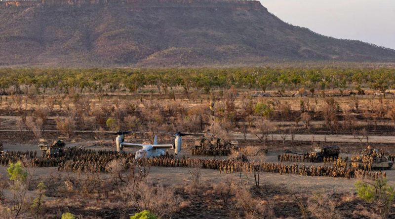 ADF and Marine Rotational Force - Darwin personnel on Exercise Koolendong at Bradshaw Training Area in the Northern Territory. Story by Lieutenant Gordon Carr-Gregg. Photo by Corporal Rodrigo Villablanca .