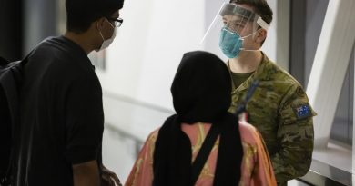 Private Jordan Schooth assists Australian citizens and visa holders evacuated from Afghanistan after their arrival in Australia. Story by Lieutenant Brendan Trembath. Photo by Corporal Dustin Anderson.
