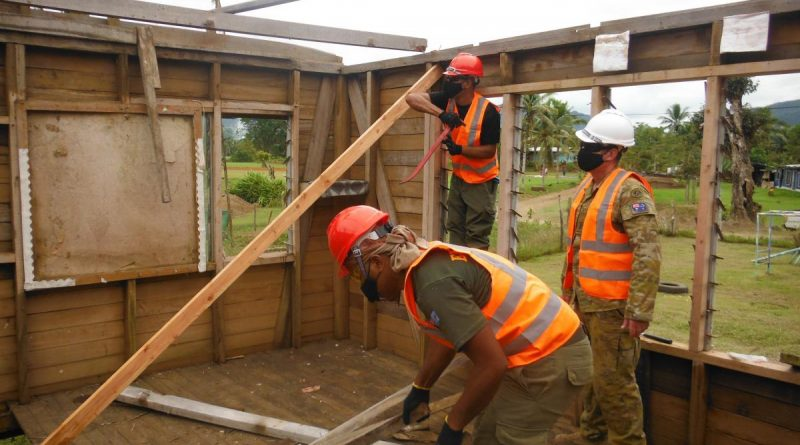 Specialist Army engineers assess school infrastructure in need of urgent repair during the reconstruction efforts in Fiji. Story by Captain Michael Trainor.