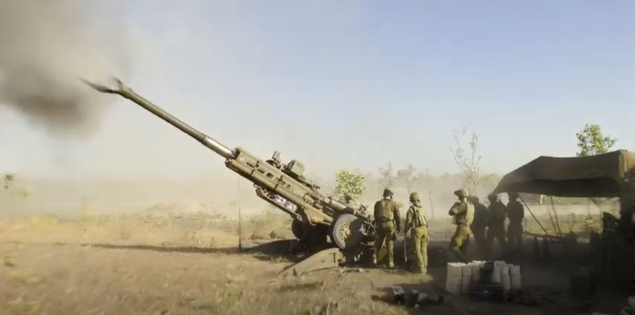 The 101st Battery of 8th/12th Regiment, Royal Australian Artillery conducted a series of artillery and small-arms live-fire training activities at the Mount Bundey Training Area in the Northern Territory as part of Exercise Valhalla Sprint. Photo video still.