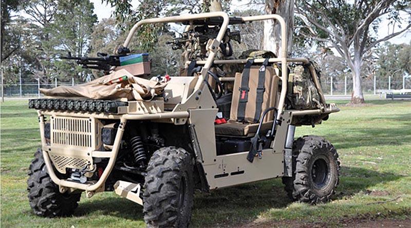 Bale Defence's 'Death Adder' rough-terrain vehicle.