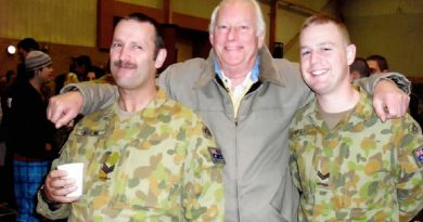 Trevor, left, Allan and Wayne – three generations of Beales in the Army. Trevor and Wayne currently serve as reservists with the 8th/7th Battalion, Royal Victoria Regiment. Story by Captain Kristen Cleland.