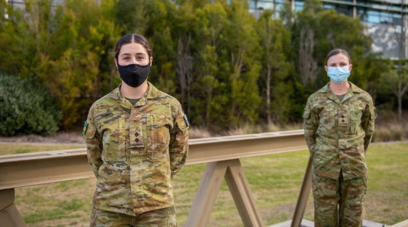 Lieutenant Helena Sorial and Lieutenant Sarah Smith at the School of Military Engineering. Story by Major Carrie Robards. Photo by Natashia Lee.
