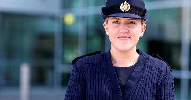Aircraftwoman Jess Swan at Directorate of Personnel – Air Force, PERS-Branch where she works as a personnel capability specialist. Story by Flight Lieutenant Tritia Evans. Photo by Dion Isaacson.