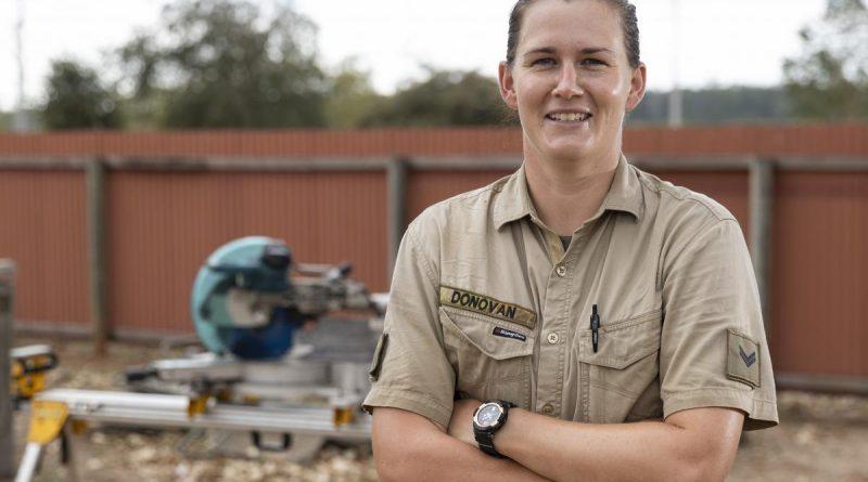 Army carpenter Corporal Courtney Donovan deployed to Timor-Leste on Exercise Hari'i Hamutuk 2021. Story and photo by Leading Seaman Jarrod Mulvihill.