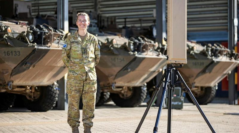 Lieutenant Laura Sehmish-Lahey is the Regimental Technical Adjutant at the 2nd Cavalry Regiment, Lavarack Barracks, Queensland. Story by Captain Lily Charles. Photo by Corporal Brodie Cross.