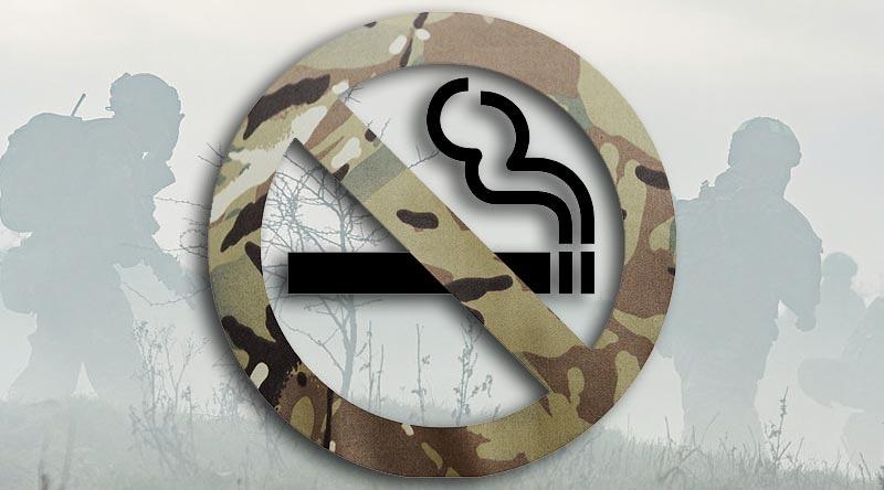 no smoking in UK MoD