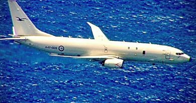 A RAAF P-8A Poseidon aircraft on a mission as part of Exercise Albatross Ausindo 21. Story by Bettina Mears.