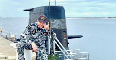 Able Seaman Nathan Mayfield uses a Harris PRC-150 HF radio set. Story by Lieutenant Geoff Long.