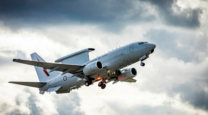 Royal Australian Air Force No. 2 Squadron E-7A Wedgetail takes off at Eielson Air Force Base in Alaska, United States. Story and photo by Flying Officer Bronwyn Marchant.
